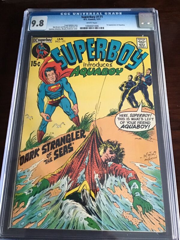 Superboy #171 CGC 9.8 White Pages 1st Appearance Aquaboy