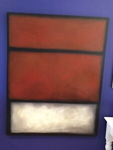 Contemporary oil painting stretched mounted canvas Mosman Mosman Area Preview