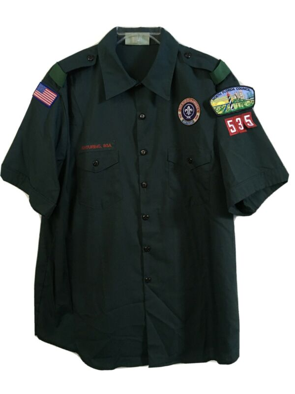 Official Shirt of the Boy Scouts of America Venturing BSA  Green Mens XL