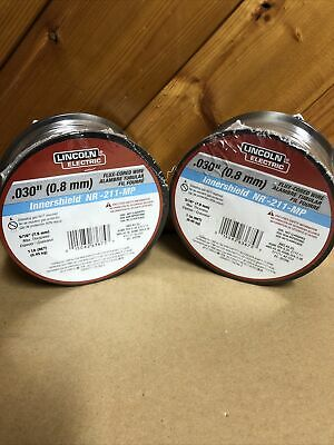 Lot Of 2 Lincoln Electric Ed031448 Mig Welding Wirenr-211-mp .030 Spool