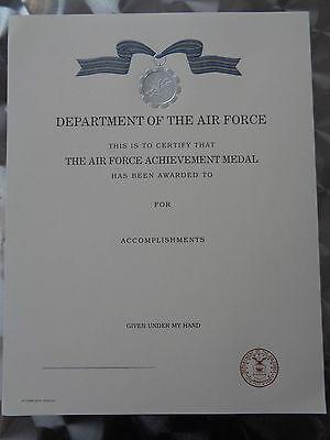 LOS3 Original US Urkunde Diplome Certificate Achievement Medal Air Force