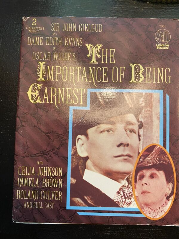The Importance Of Being Earnest Cassette Tape Audio Book British English Comedy