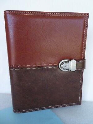 Agenda Personal Organizer Planner 6-rings 34 Binder Brown Quality Excel