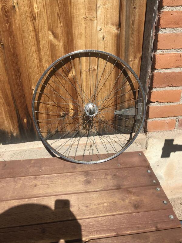 Vintage Rigida 27 x 1 1/4 Rim Wheel Chrome Steel Road France Used