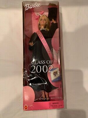 "2002 Special Edition ""CLASS OF 2002 BARBIE"" Graduation  In Original Box"