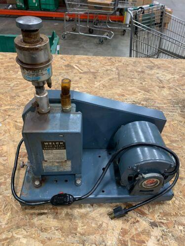 WELCH DUO SEAL VACUUM PUMP MODEL 1399 1/3 HP GE MOTOR B28