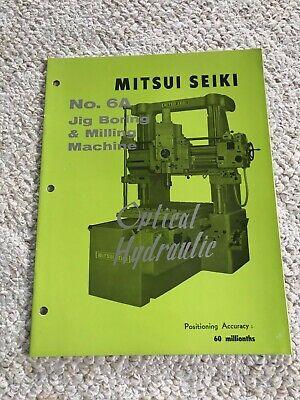 Mitsui Seiki 6a Optical Jig Boring And Milling Machine Sales Catalog