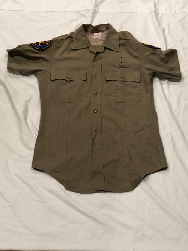 Vintage Ventura County Sheriff Uniform Shirt with Patches