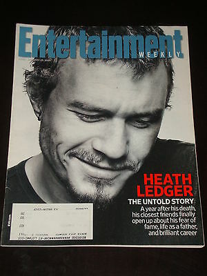 ENTERTAINMENT WEEKLY 2009, Heath Ledger, Matthew Fox, Katy