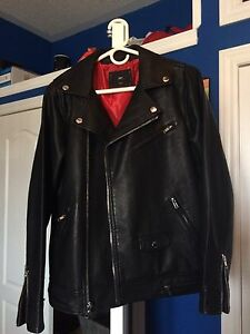 Obey Black Leather Jacket