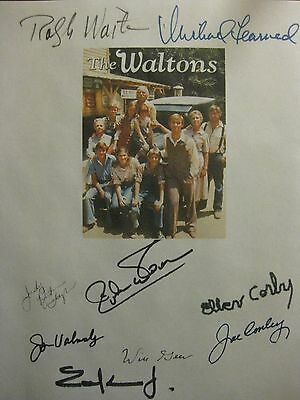 The Waltons Signed TV Script X9 Richard Thomas Ralph Waite Michael Learned repnt