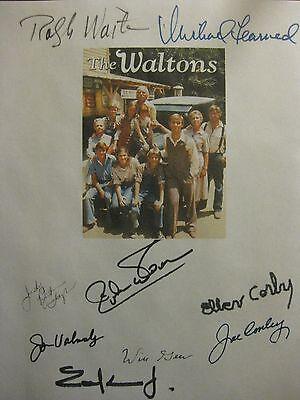 The Waltons Signed TV Script X9 Richard Thomas Ralph Waite Michael Learned repnt