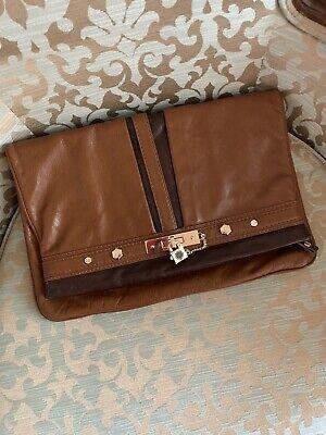 Brown Two Toned Marc Jacob Xlarge Clutch Handbag Rare