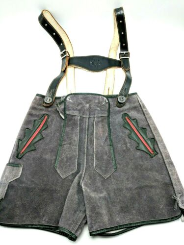 "German Lederhosen Shorts Suede 22"" Vintage Child Youth Authentic Oktoberfest"