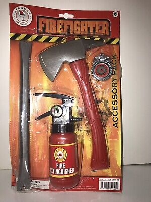 Firefighter Accessory Set Pack Child Costume Kit Fireman Extinguisher