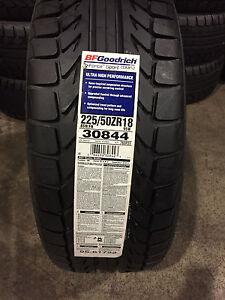 2 New 225 50 18 BFGoodrich g-Force Sport Comp 2 Tires