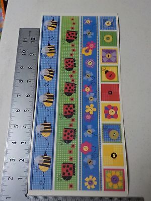 Funky Borders - PEBBLES INC. FUNKY BUGS BORDERS BEES LADYBUGS STICKERS SCRAPBOOKING A3152