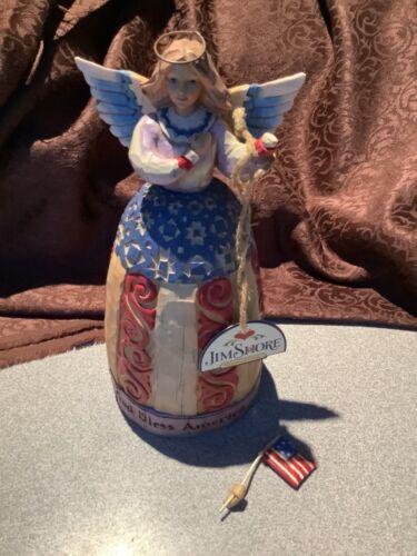 "Enesco""s JIM SHORE "" I Pledge Allegiance To The Flag"" Angel Figurine W/Tag! READ"