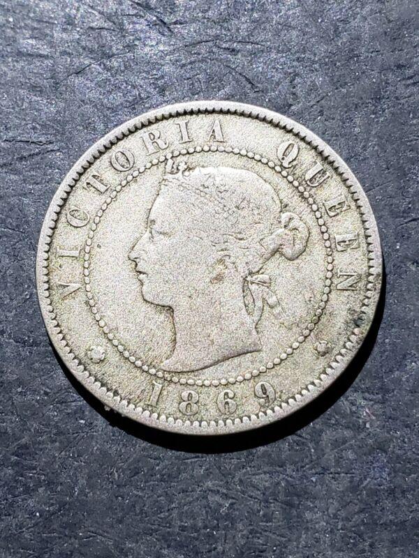 1869 Jamaica Half Penny Coin