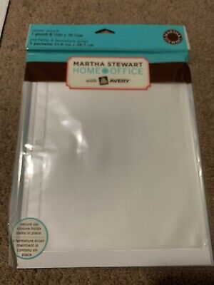 Martha Stewart Home Office With Avery Zipper Pouch Translucent 8-12 X 10-12