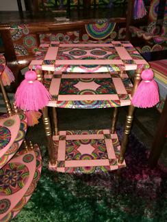 Side table artist restored FUNKY furniture Boho Boutique