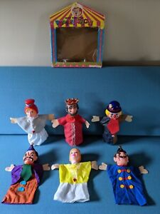 Boxed Retro Vintage Set Of X6 Hand Puppets Mini Theatre Puppet Show Keysborough Greater Dandenong Preview
