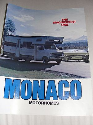1976 MONACO MOTORHOME The Magnificent One RV Recreational Vehicle Dodge Brochure (1976 Dodge Motorhome)