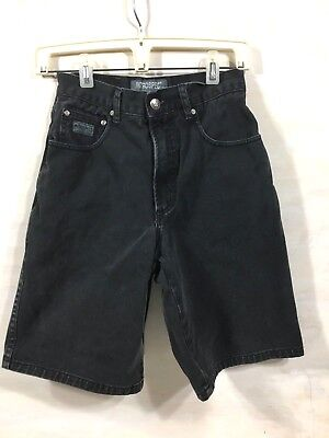 Boys Black Denim Jean Shorts Sz 28 100% Cotton INTROSPECT JEANS 26