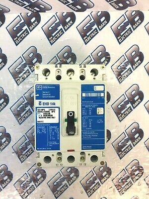 Cutler Hammer Ehd3100 3 Pole 100 Amp 480 Volt Blue Circuit Breaker- Warranty