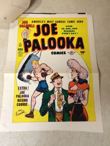 JOE PALOOKA #12 COVER ART original proof 1947 w/INVOICE -- RARE!! HAM FISHER!!