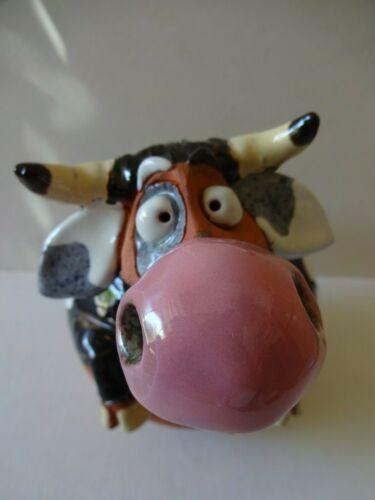 Ceramic Farm Animal - Yard Ornament - Comical Cow