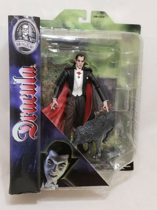 DRACULA w WOLF MISP Universal Studios Monsters Diamond Select Action Figure 2011