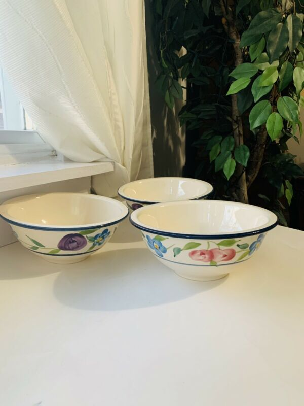 Beautiful CERTIFIED INTERNATIONAL Corp Made in Portugal Set Of 3 Bowls