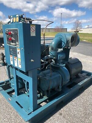 Used 40-hp Quincy Rotary Air Compressor On Enclosed Skid Mount