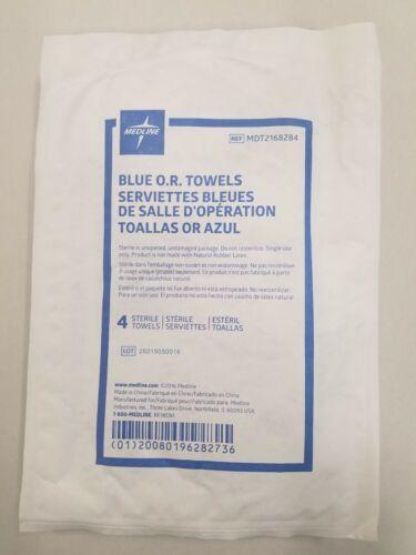"""*1-Pack* Medline Blue O.R. Sterile 4 Disposable Towels 17"""" x 27"""" MDT2168284"""
