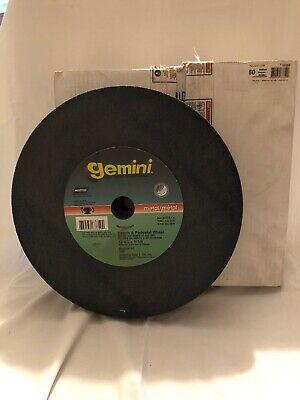 Norton Gemini Bench Grinding Wheel 12 X 2 X 1-14 Med. 60 Max 2070 Rpm 63359