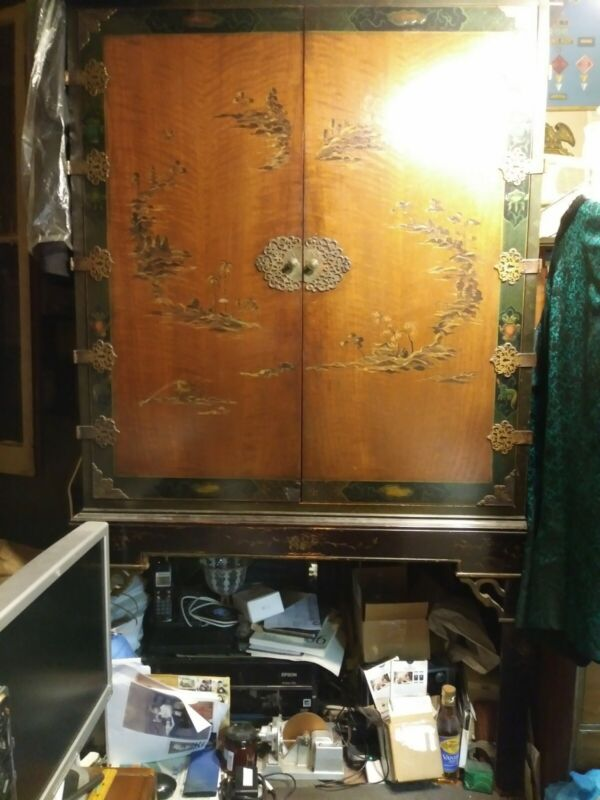 Victor Victrola Radio Electrola 9-56 to RE-156 hand-painted Chinese cabinet
