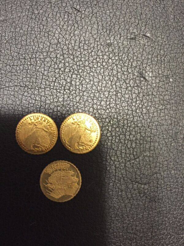 1907 Mini $20 Gold St. Gaudens Novelty Coins Lot Of 3