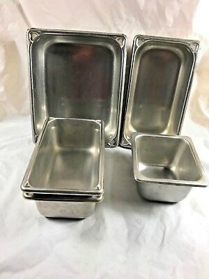 Stainless Steel Steam Table Pans Lot Of 5 Vollrath