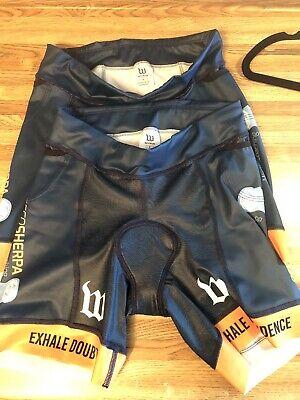 Wattie Ink Womens Triathlon Shorts Medium Navy Blue team Shorts - Set Of 2