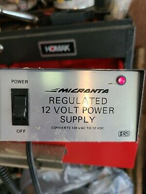 Micronta Regulated 12 Volt Power Supply Cat No 22-124 120