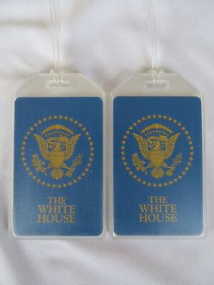 THE WHITE HOUSE LUGGAGE TAGS 2-TAG SET - PRESIDENTIAL SEAL - NAME BAG TRIP ID