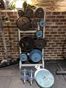 Weight plates and weight tree 361kg
