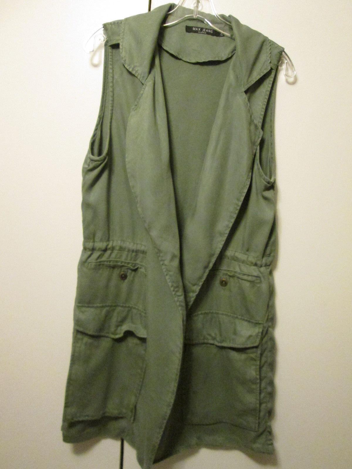 $105 Max Jeans Mint Green Olive Khaki Tencel Extra