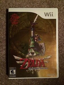 Zelda Skyward Sword Nintendo Wii Game 2 Disc