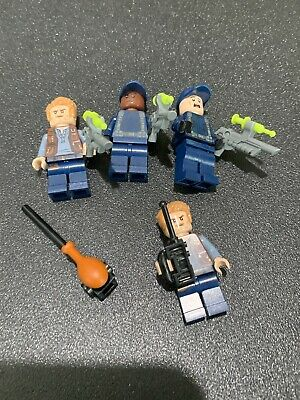 LEGO Owen Grady Troopers minifigure Jurassic World Lot Of 4 Plus Accessories