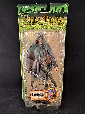Lord Of The Rings Fellowship Strider W Sword Slashing Action Figure Nib
