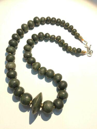 ancient pyu  KINGDOM GREEN JADE necklace