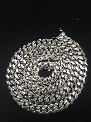 Miami Hand Made Solid Classic Cuban Link Silver 925 Chain - 10mm - 30 Inches