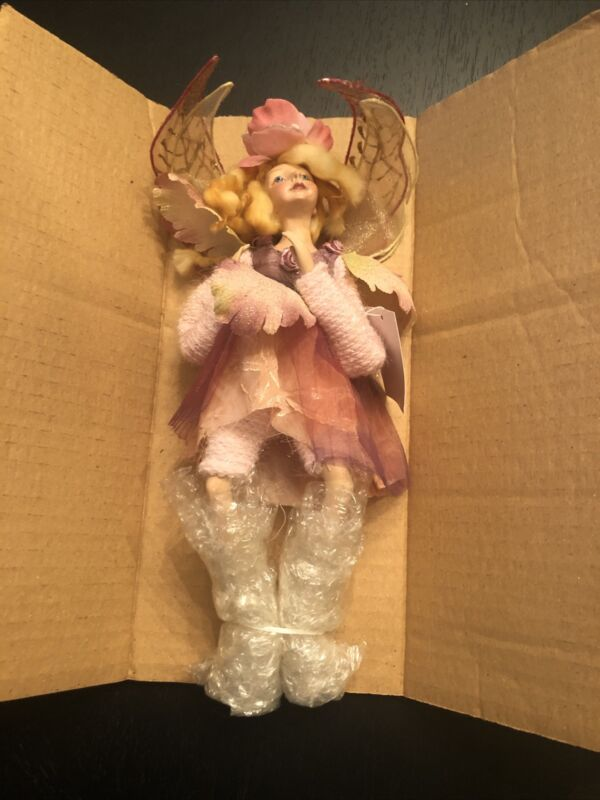 """12"""" Sitting Fairy, Pink And Yellow, KF5310"""